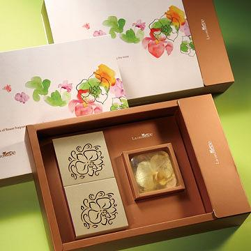 Real orchid flower gift set