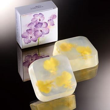Real Orchid Flower Soap/oncidium orchid Weight 110g